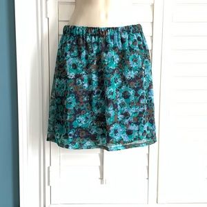 Mossimo XS Multicolor Pull On Skirt
